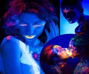 Bodypainting Farben Schwarzlicht