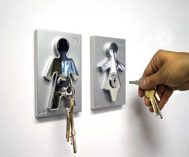 Menschliche Schlüsselhalter