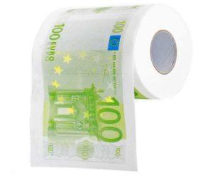 geldschein toilettenpapier