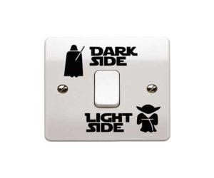 Dark side light side aufkleber