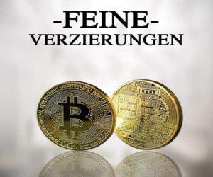 Bitcoin Medaille gold münze