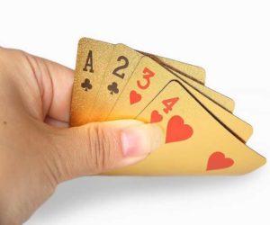Gold Spielkarten Pokerkarten