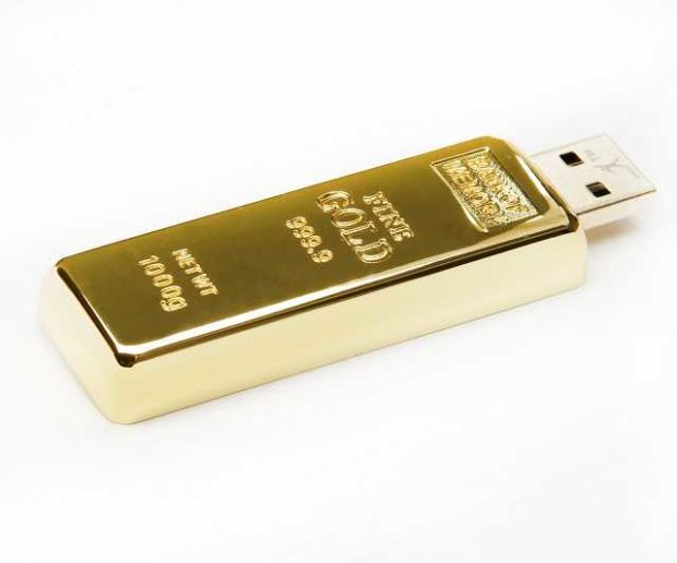 Goldbarren USB Stick