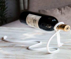 Magische Seil Weinflaschenhalter schwebt