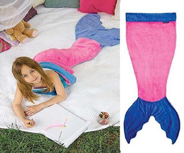 Meerjungfrauenschwanz Decke für Kinder