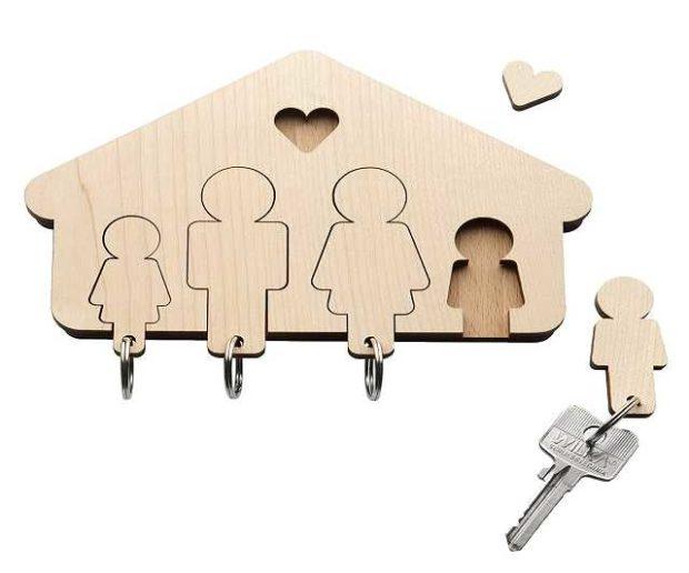 Schlüsselbrett für Familie