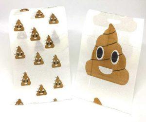 Toilettenpapier mit Kackhaufen Emoji