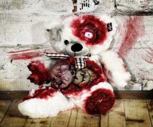 Zombie Alien Teddy für Halloween