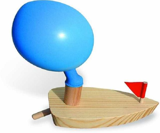 Ballon Holzboot