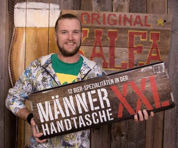 Männerhandtasche Bier Geschenk