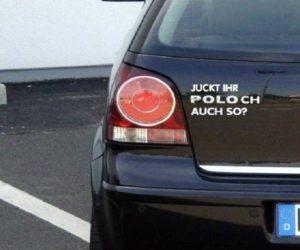 Poloch VW Aufkleber fürs Auto