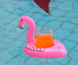 Aufblasbare Flamingo Getränkehalter