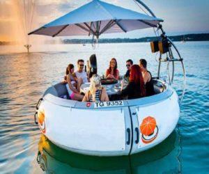 Grillparty auf Boot für 10 Personen