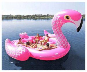 Riesige aufblasbare Flamingo für 6 Personen